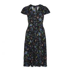 vestido negro estampado de flores