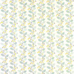 papel pintado de flores azul verdoso y amarillo camomila