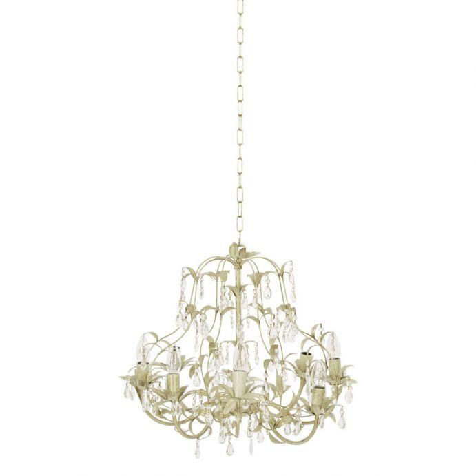 elegante lámpara de techo crema tipo araña de diseño