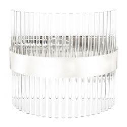 aplique de pared en cristal y banda níquel de diseño