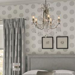 lámpara de techo tipo araña en níquel y cristal de diseño