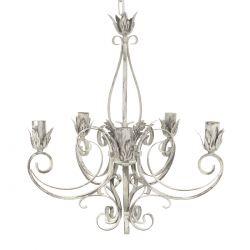 lámpara de techo estilo araña en crema desgastada de diseño