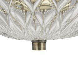 lámpara de techo de diseño clásico en bronce y cristal