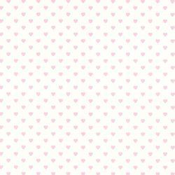 papel pintado Hearts rosa y blanco