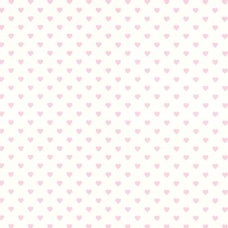 Papel pintado hearts rosa y blanco for Papel pintado blanco