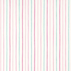 papel pintado Painterly Stripe rosa