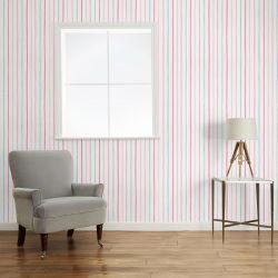 papel pintado de rayas rosas de diseño infantil