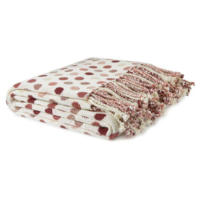 manta con topos rojos de diseño