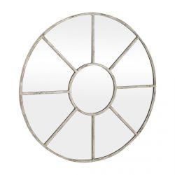 espejo redondo estilo industrial de diseño