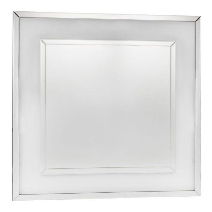 espejo cuadrado de diseño elegante