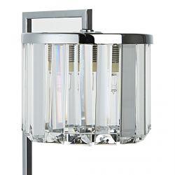 lámpara de escritorio níquel y cristal de diseño