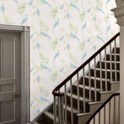 papel pintado de pájaros tropicales de diseño