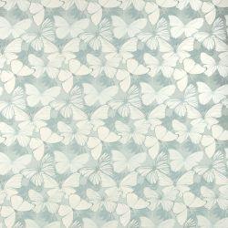 papel pintado Butterfly Garden azul verdoso