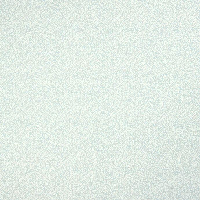 tela azul verdoso de pequeñas hojas de diseño