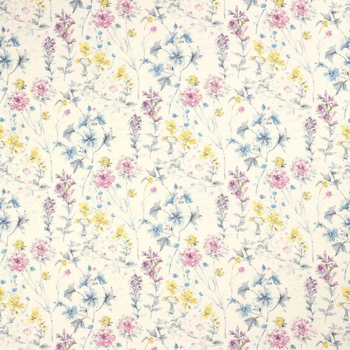 tela estampada de pequeñas flores de colores de diseño
