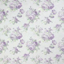tela de rosas moradas sobre fondo blanco de diseño