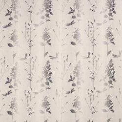 tela de hojas y libélulas de estilo natural en gris