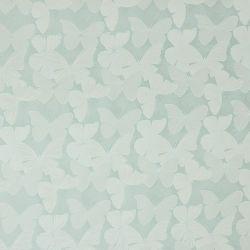 tela de mariposas en azul verdoso de diseño muy elegante