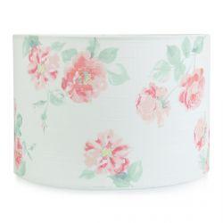 pantalla de lámpara con flores rosas de diseño