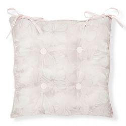 cojín para silla rosa con mariposas de diseño
