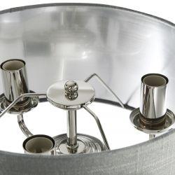lámpara completa níquel con pantalla carbón de diseño clásico