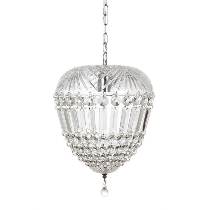 lámpara de techo de cristal con forma de urna de diseño