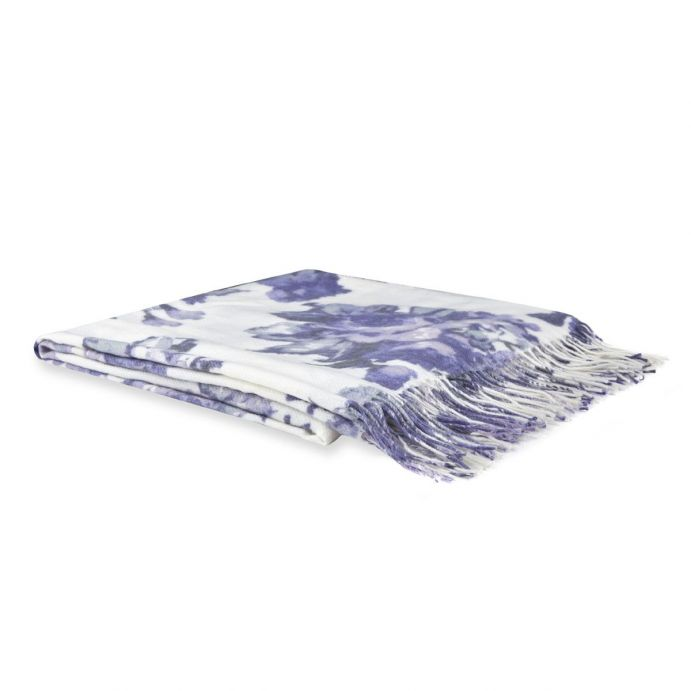 manta de flores violeta de diseño