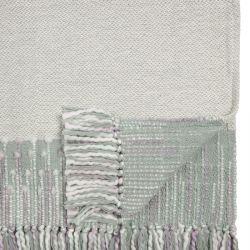 suave manta en azul verdoso y blanco de diseño
