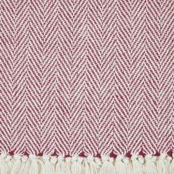 manta de espiga rojo y blanco de diseño