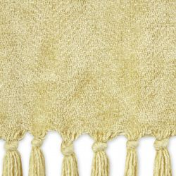 manta dorada con flecos de diseño