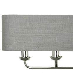 lámpara de techo con pantalla rectangular gris con diseño para mesa de comedor