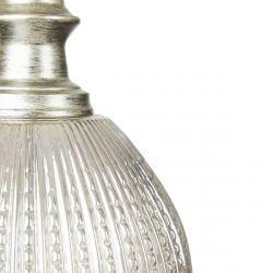base de cristal ámbar estriado redonda de diseño vintage