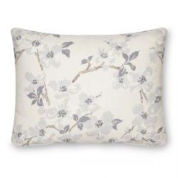 cojín de flores con abalorios en gris de diseño