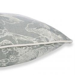 cojín de estampado jacquard en gris acero de diseño