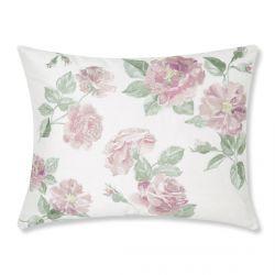 cojín floral con rosas bordadas de diseño