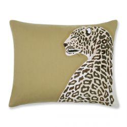 cojín con fantástico leopardo bordado de diseño