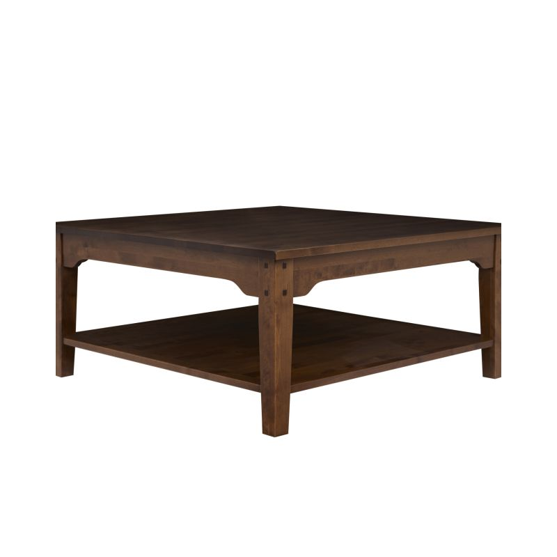 mesa de café cuadrada Garrat castaño oscuro