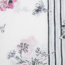 pashmina de flores y rayas de diseño