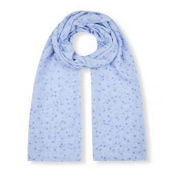 pañuelo azul de topos blancos con mucho estilo