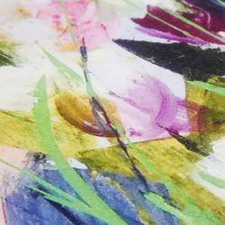 cuadro de flores multicolor para una decoración de diseño