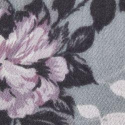 pashmina de flores con fondo gris de diseño