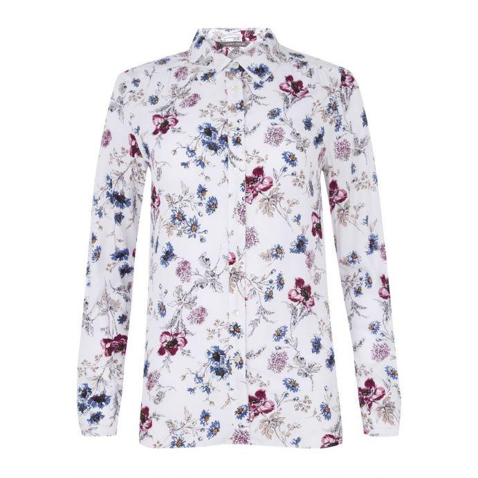 271d23894 blusa blanca estampada de flores rosas y azules ideal para verano