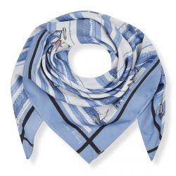 pañuelo cuadrado azul con estampado marinero ideal para atar al cuello