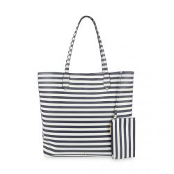 bolso tipo shopper de rayas marineras azules muy veraniego