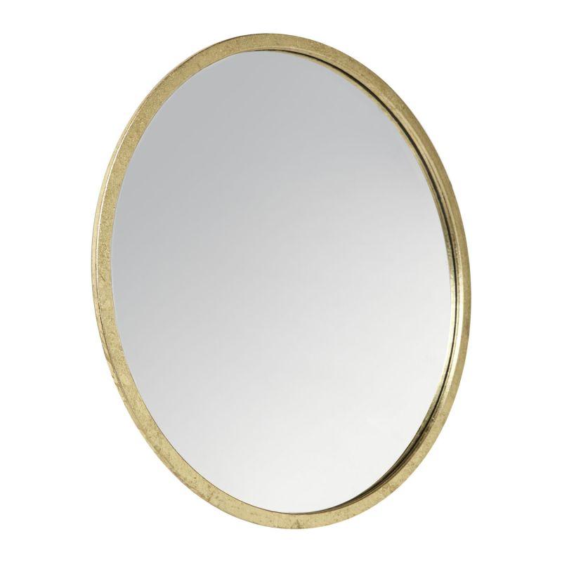 Espejo constance dorado peque o for Espejo redondo pequeno