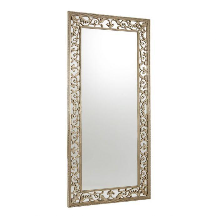 espejo rococó acabado champán de estilo marco labrado