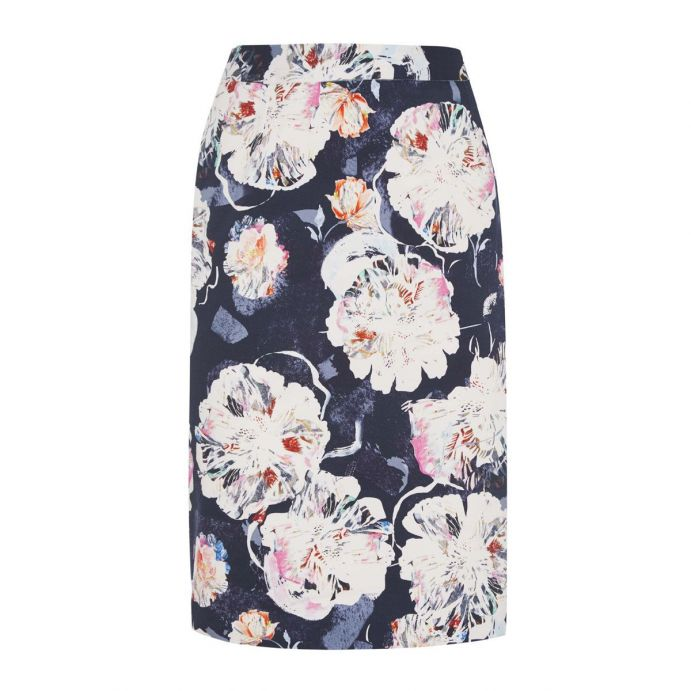 falda estampada de flores de diseño