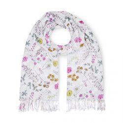 pañuelo de flores tipo fular de diseño