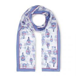 pañuelo de seda con globos azules