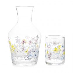 botella y vaso Meadow Flower